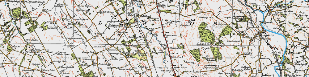 Old map of Aikbank Common in 1925