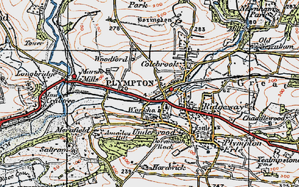 Old map of Plympton in 1919