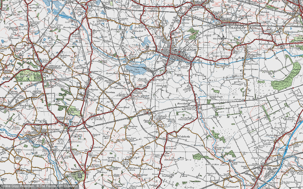 Old Map of Pocket Nook, 1924 in 1924
