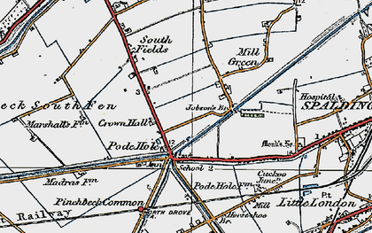 Old map of Lindum Ho in 1922