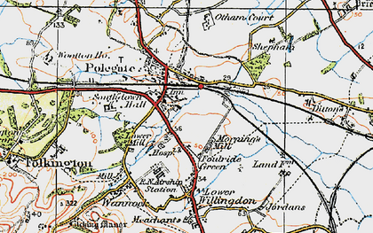 Old map of Polegate in 1920