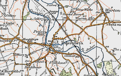Old map of Polesworth in 1921