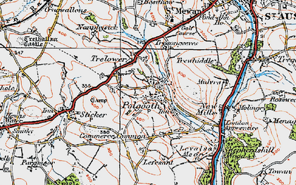 Old map of Polgooth in 1919