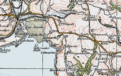 Old map of Menabilly in 1919