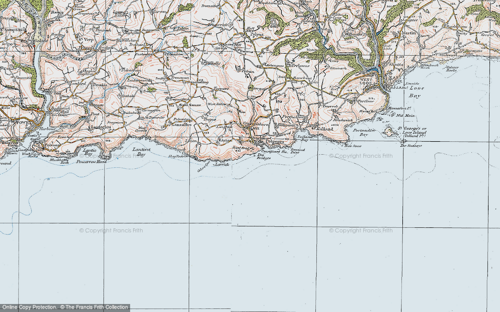 Old Map of Historic Map covering Larrick in 1919
