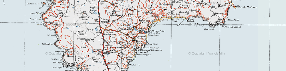 Old map of Poltesco in 1919