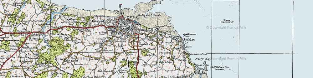 Old map of Woodlands Vale in 1919
