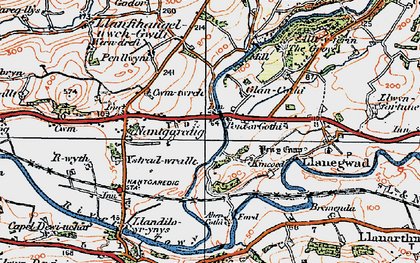 Old map of Abercothi Ho in 1923
