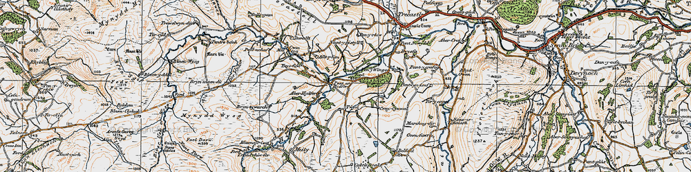 Old map of Tircapel in 1923