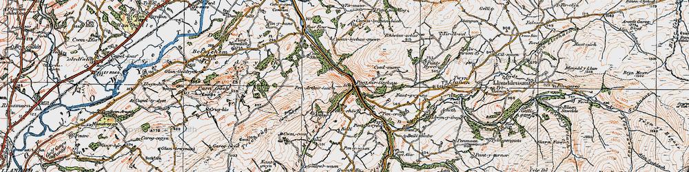 Old map of Afon Swadde in 1923