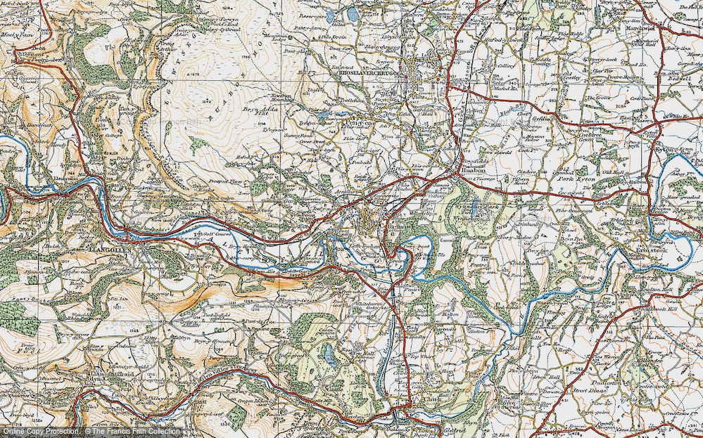 Old Map of Pont Cysyllte, 1921 in 1921