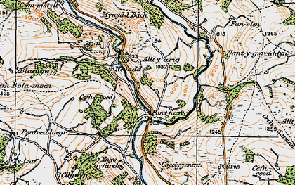 Old map of Alltycerrig in 1923