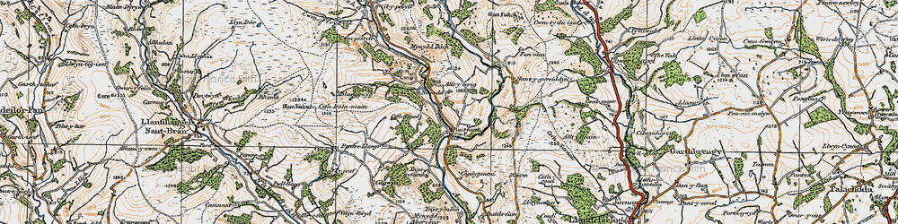 Old map of Alltycerrig in 1923