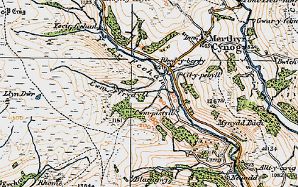 Old map of Yscirfechan in 1923
