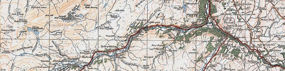 Old map of Afon Wybrnant in 1922