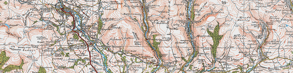 Old map of Pont-y-rhyl in 1922