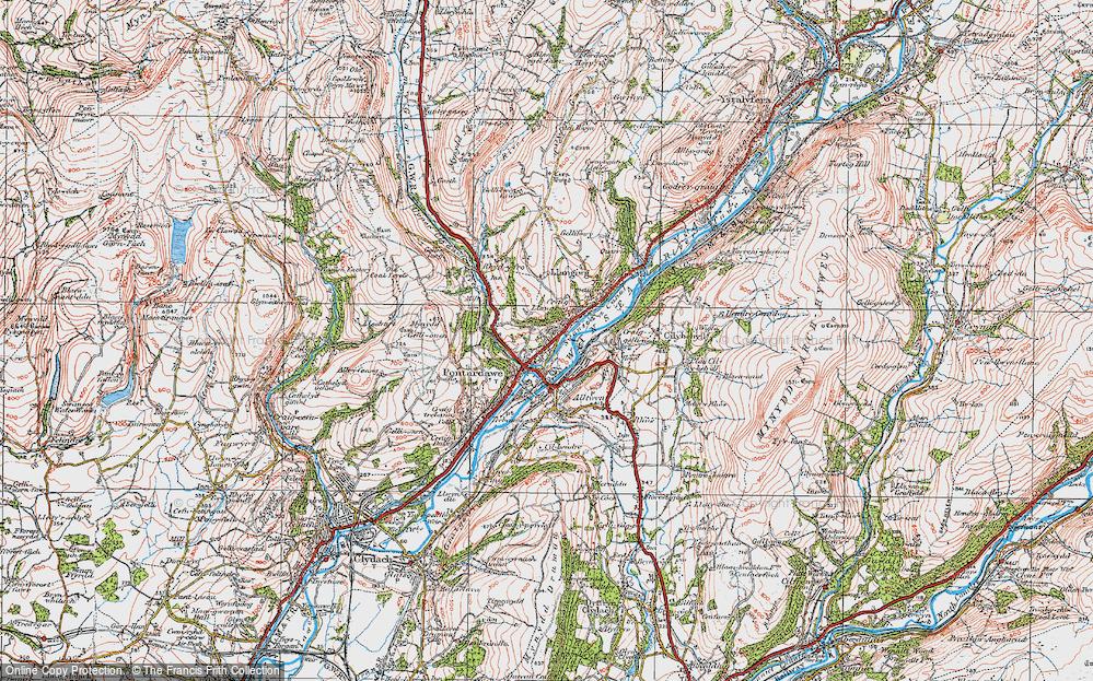 Old Map of Pontardawe, 1923 in 1923