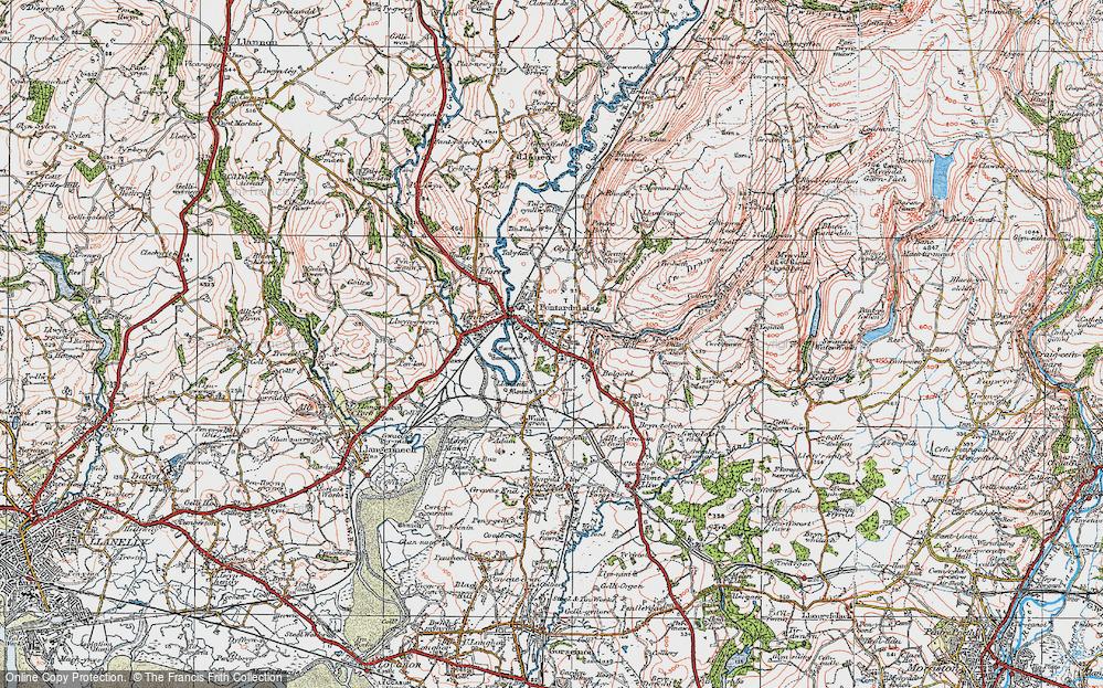 Old Map of Pontarddulais, 1923 in 1923