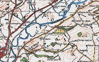 Old map of Tir-y-lan in 1923