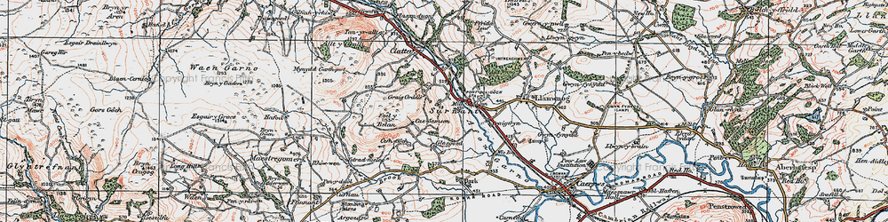 Old map of Alltwnnog in 1921