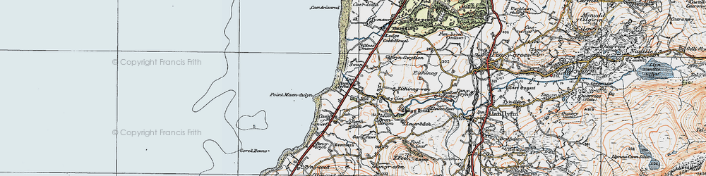 Old map of Pontllyfni in 1922