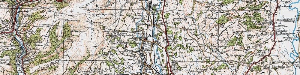 Old map of Pontnewydd in 1919