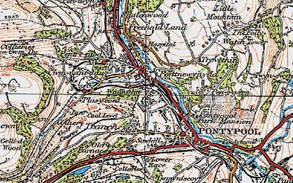 Old map of Pontnewynydd in 1919