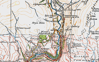 Old map of Pontsticill in 1923