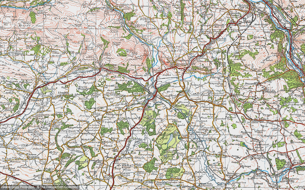 Old Map of Pontyclun, 1922 in 1922