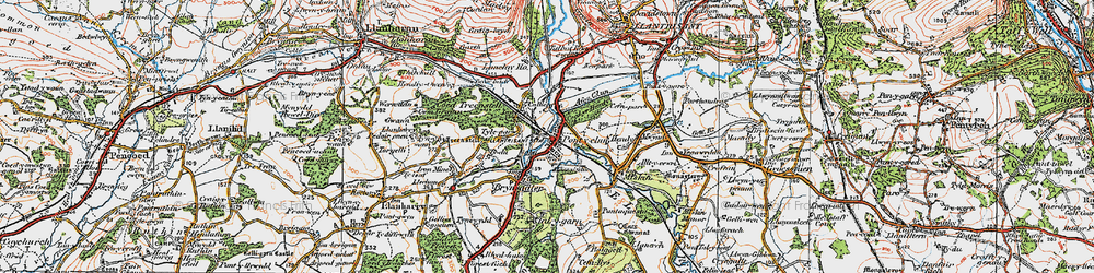 Old map of Pontyclun in 1922