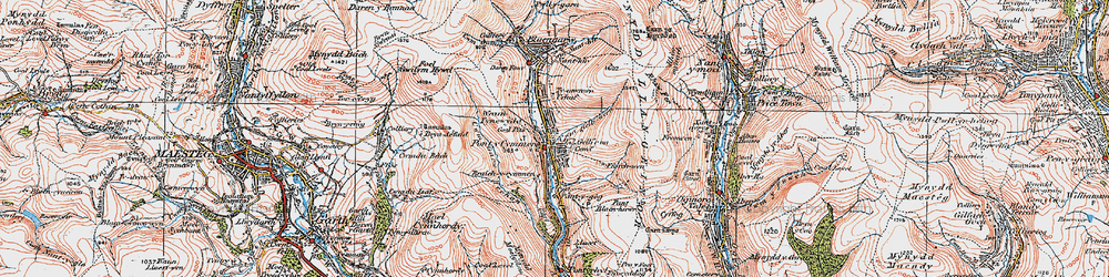 Old map of Pontycymer in 1922