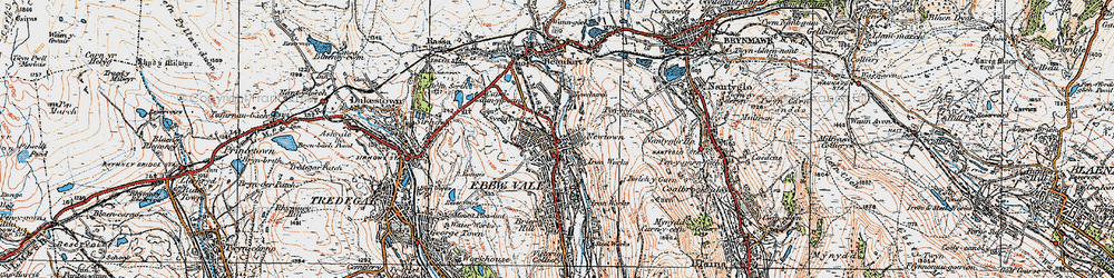 Old map of Pontygof in 1919