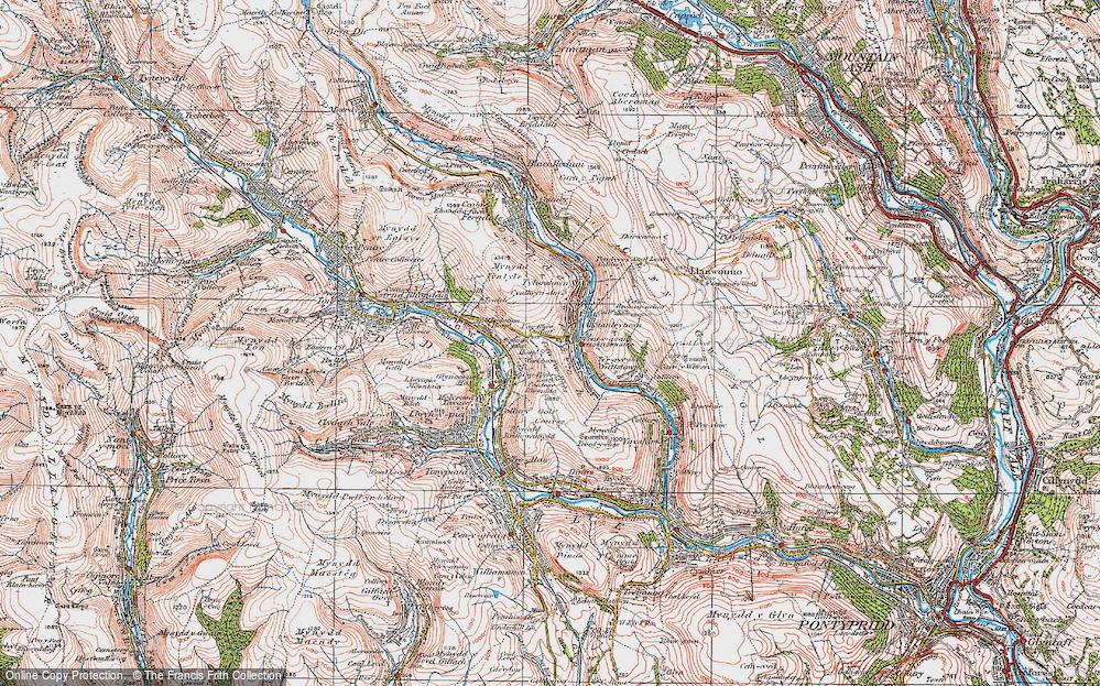 Old Map of Pontygwaith, 1923 in 1923