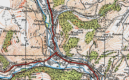 Old map of Pontywaun in 1919