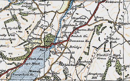 Old map of Aik Beck in 1925