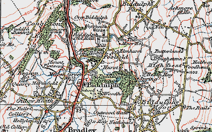 Old map of Woodhouse in 1923