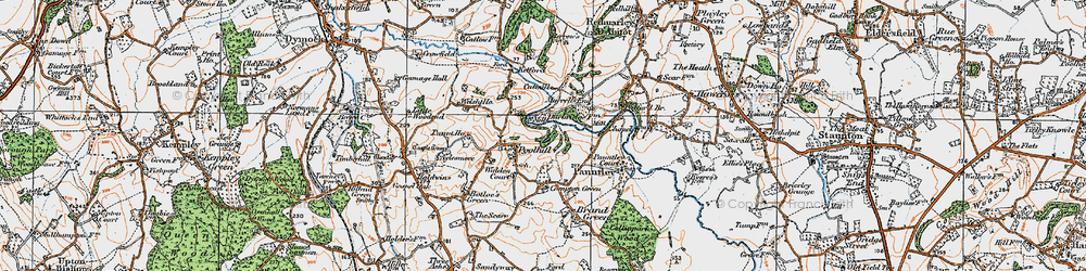 Old map of Pauntley Court in 1919