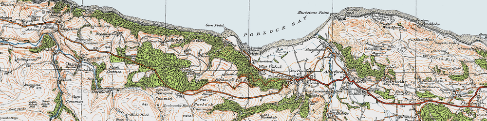 Old map of Whit Stones in 1919
