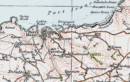 Old map of Port Gaverne in 1919