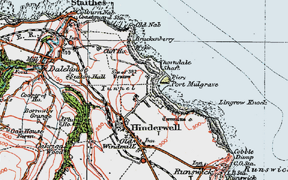 Old map of Lingrow Knock in 1925