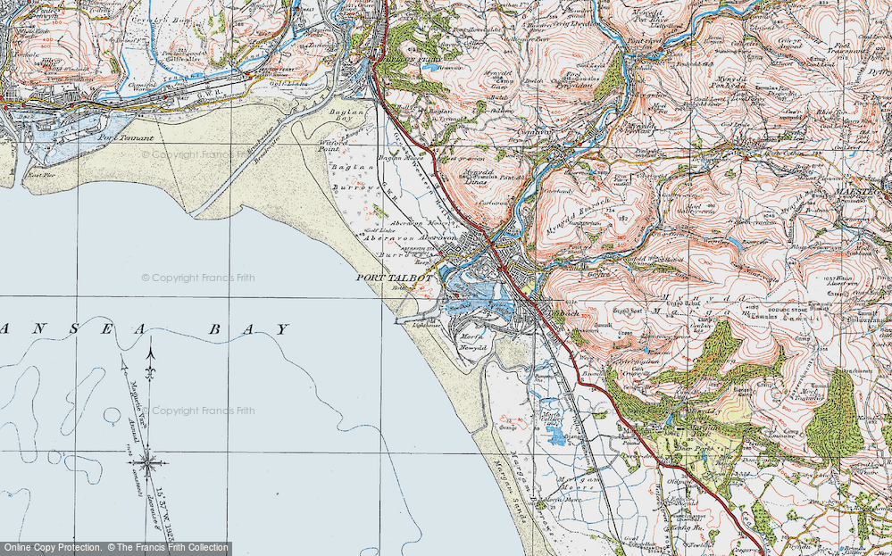 Old Map of Port Talbot, 1922 in 1922