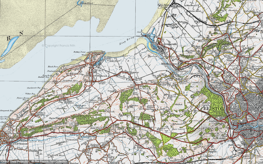 Old Map of Portbury, 1919 in 1919