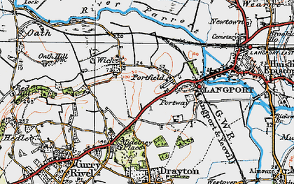 Old map of Portfield in 1919