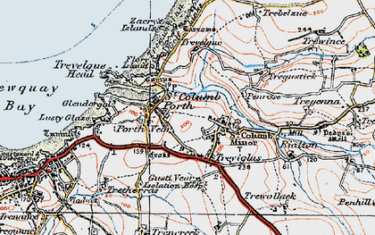 Old map of Porth in 1919