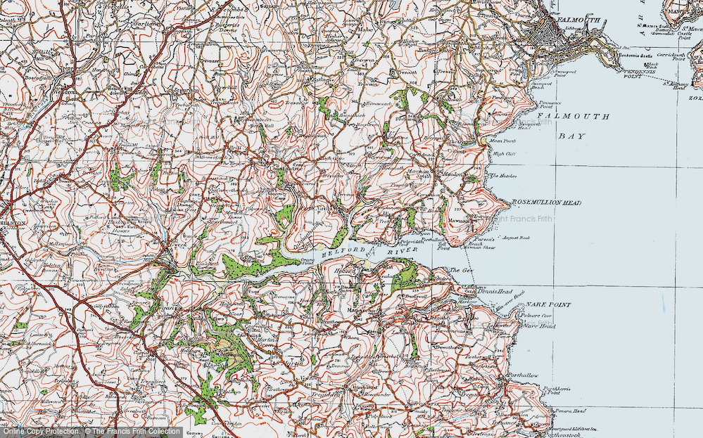 Old Map of Porth Navas, 1919 in 1919