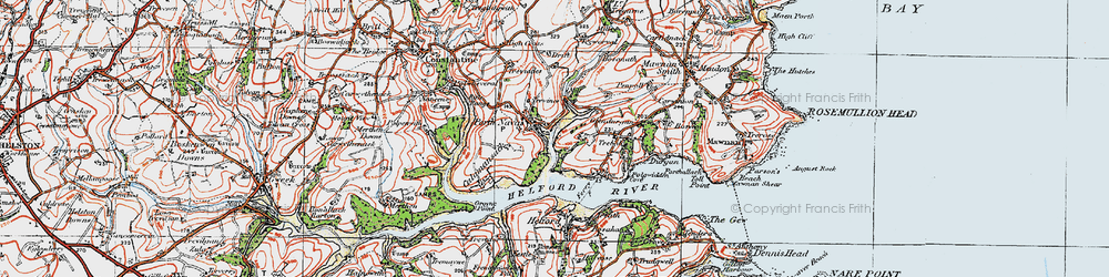 Old map of Port Navas in 1919