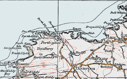 Old map of Porthgain in 1922