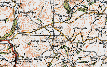Old map of Aberbowlan in 1923