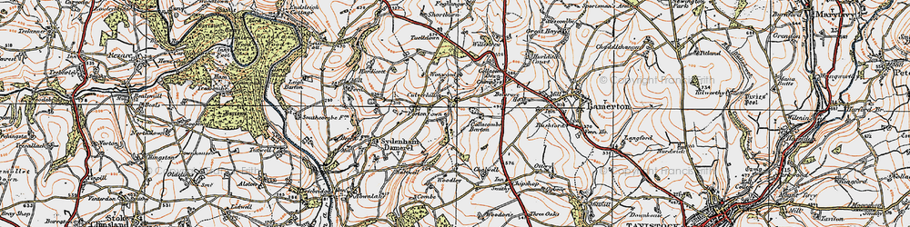 Old map of Wonwood in 1919