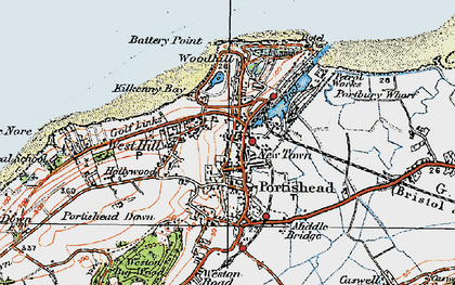 Old map of Portishead in 1919
